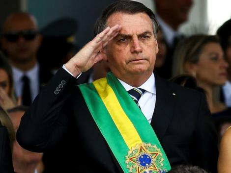 O presidente Jair Bolsonaro durante o desfile de 7 de Setembro, em Brasília.